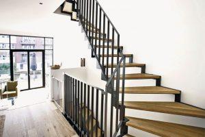 Dämmelemente für eine trittschallgedämmte Treppe: Schalldämmteile von Fuchs-Treppen vermeiden laute Trittgeräusche auf Leichtbautreppen. Bild: Fuchs-Treppen