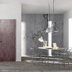 """Sichtbetonoptik für Türen in modern gestalteten Innenräumen: DuriTop Spezial """"Concrete"""", eine leicht zu reinigende Oberfläche, sieht aus wie Sichtbeton. Bild: Jeld-Wen"""