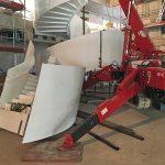 Die Treppe wurde im Werk aus insgesamt neun Teilsegmenten gefertigt, je drei pro Treppenlauf. Bild: MetallArt Treppen