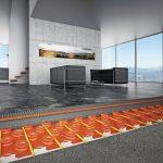 """Der wassergeführte Keramik-Klimaboden """"Schlüter-Bekotec-Therm"""" ist eine reaktionsschnelle und energiesparende Flächenheizung mit besonders niedrigem Aufbau."""