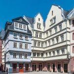 Das DomRömer-Quartier mit 35 Häusern auf den historischen Parzellen der im Zweiten Weltkrieg zerstörten Altstadt. Bilder: Schöck Bauteile GmbH