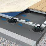 Alu-Rahmensystem für die Verlegung großformatiger Keramikbeläge im Außenbereich Bild: Gutjahr