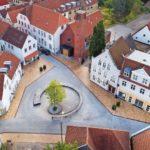 Neugestaltung des historischen Stadtkerns in Apenrade an der Ostsee in Dänemark
