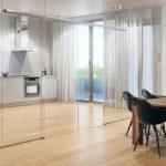 Schiebetür in Glaswand integriert