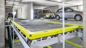 Tiefgarage mit automatischem Rotationssystem für die Autos. Bild: doublespace photography
