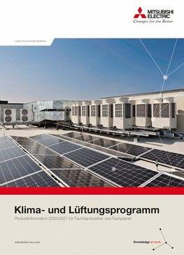 Katalog von Mitsubishi zum firmeneigenen Klima- und Lüftungsprogramm. Bild: Mitsubishi Electric