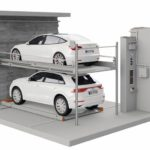 Parkgarage mit Fahrzeugrotationssystem. Bild: Klaus Multiparking