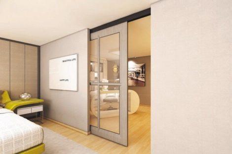 Schlafzimmer mit angrenzendem Arbeitszimmer. Bilder: OPK Europe GmbH