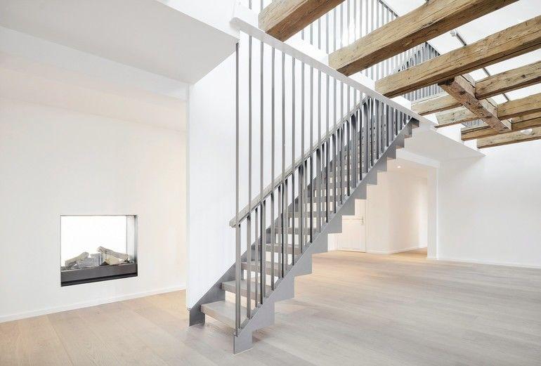 Die klaren und einfachen Linien der Raumgestaltung setzen sich im Treppendesign fort. Bild: spitzbart treppen
