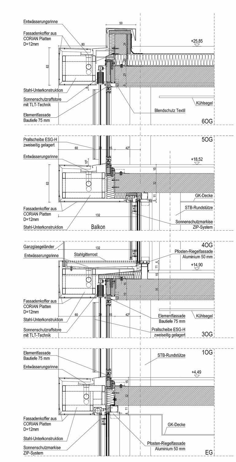 Relativ Neubau eines Bürogebäudes in München. Sonnenschutzisolierglas KO28