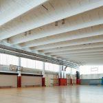 Dachkonstruktion einer Sporthalle. Bild: Jet-Gruppe