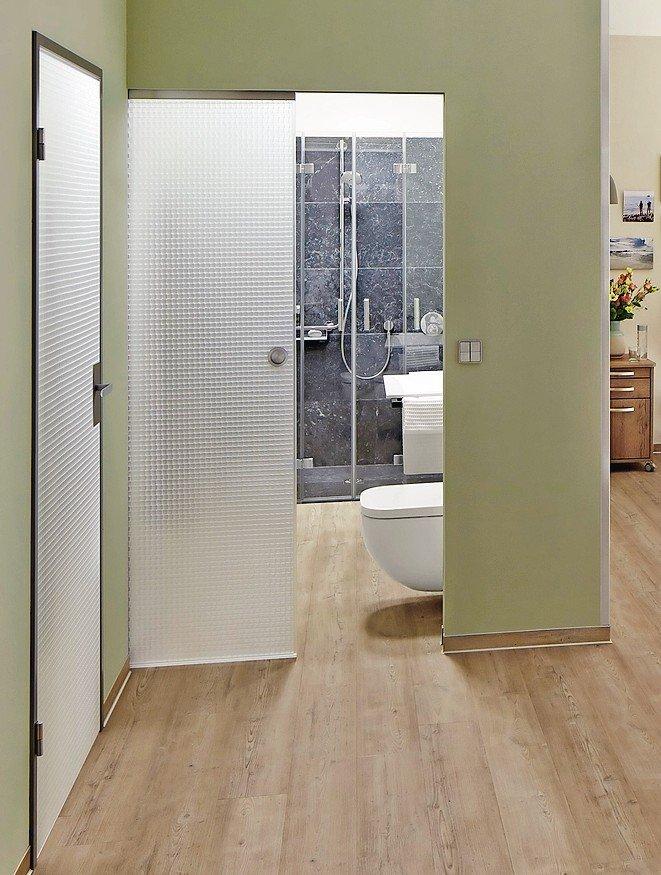 Zargenlose und lichtdurchlässige Schiebetür. Bild: Wacosystems GmbH & Co. KG