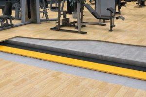 """Die elastischen Bodenaufbauten """"g-fit"""" von Getzner sind dafür konzipiert, Lärm und Vibrationen in Fitness-Studios zu reduzieren."""