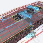"""Die Haustechnik ist für viele Projekte komplex. Die Planungen von Statik und Haustechnik lassen sich über ein IFC-Modell im Gesamtmodell """"übereinanderlegen"""" – durch das übergreifende IFC-Format unabhängig von der verwendeten Planungssoftware. Bild: h4a Gessert + Randecker Generalplaner GmbH, München"""