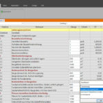 Nach Excel exportiertes Leistungsverzeichnis. Bild: G&W Software AG, München
