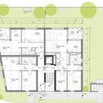 Grundriss Erdgeschoss. Zeichnung: Dipl.-Ing. (FH) Jörg Kaiser, Architekt, Lauchringen