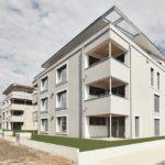 In Hamburg, Berlin und Baden-Württemberg dürfen auch bei Wohngebäuden bis zu 13 m Höhe Brettsperrholzkomponenten mit Sichtqualität verwendet werden. Bild: Lignotrend / Foto & Design, Waldshut-Tiengen