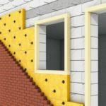 Mauerrandstreifen (XPS) für die Dämmung von zweischaligem Mauerwerk. Bild: URSA