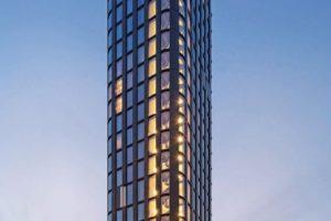 Mit Nachhaltigkeit punktet das neue Hotelhochhaus in Amsterdam: QO Amsterdam schafft mit einer Höhe von 75 m eine neue Landmarke im Süden der Stadt. Bild: Ronald Tilleman