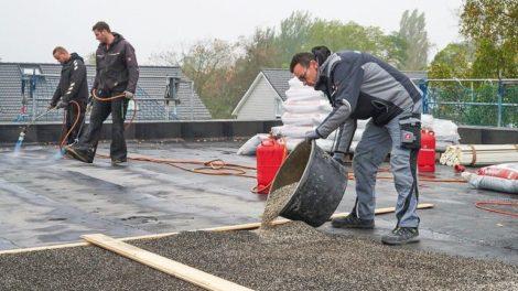 Dämmstoffschüttung für Flachdächer