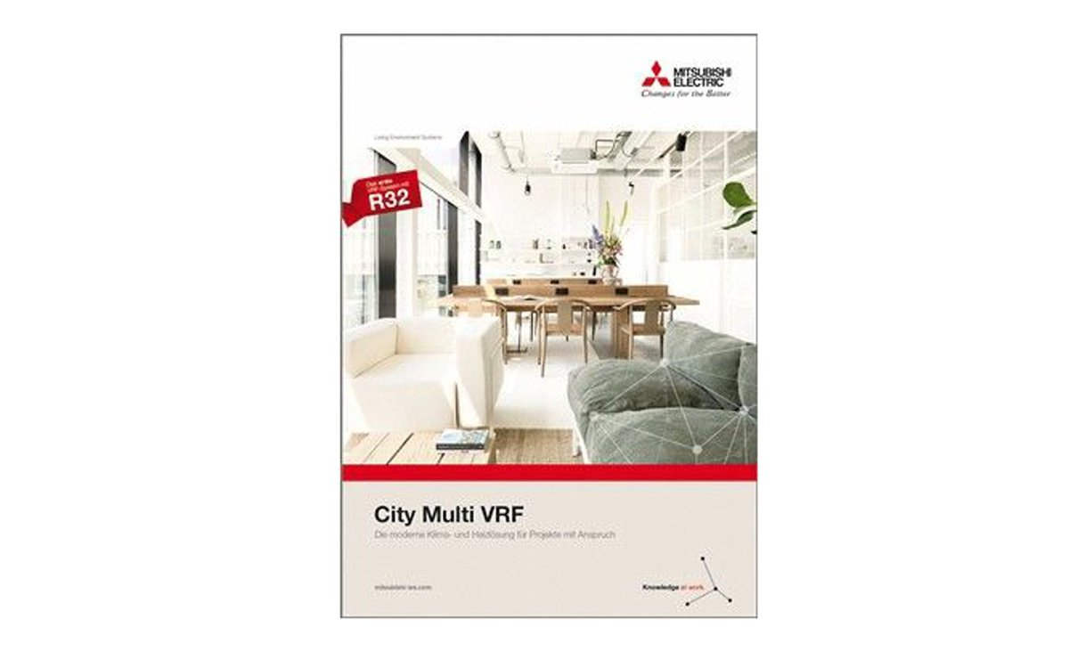 """Cover der Mitsubishi-Broschüre """"City Multi VRF"""". Bild: Mitsubishi Electric"""