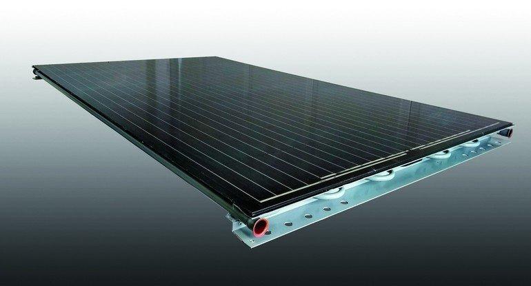 Energieeffizient: Kollektor mit Photovoltaik und Solar von Consolar. Bild: Consolar