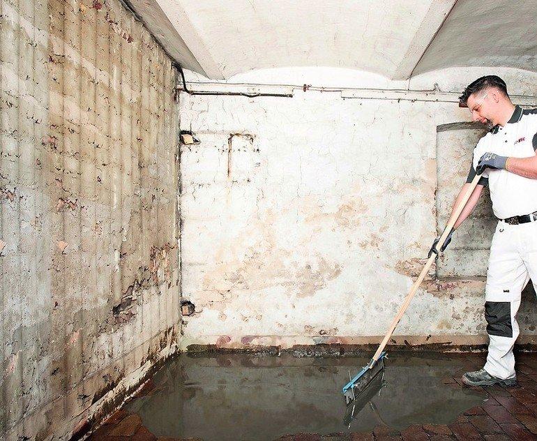 Sanierung von alten Kellerböden. Bild: Isotec GmbH