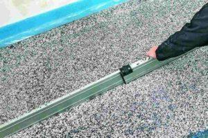 Für den Ausgleich unebener Fußböden gemäß DIN 18560-2. Bild: Knauf Aquapanel