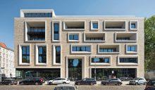 Das Wohn- und Geschäftshaus von Tchoban Voss Architekten in der Ackerstraße Berlin. Bild: Werner Huthmacher