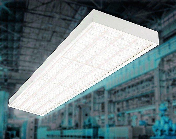 LED-Hallenleuchte mit hoher Effizienz für Industrie- und Gewerbebau. Bild: Regiolux, iStock.com/Garsya