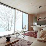 Und auch bei Schnee und Eis geht Wohnraum in Freiraum, Innen in Außen über. Bild: Christian Brandstätter DMAA