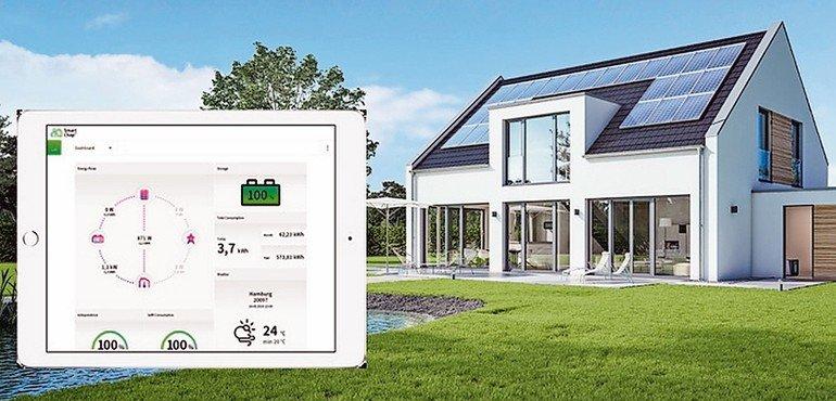"""Maximal Stromautark: Mit dem modular aufgebauten Energiemanager plus Speicher """"Smart-Chap"""" von Sharp kann Solarstrom effizient im Haus genutzt werden. Bild: Sharp Energy Solutions Europe"""