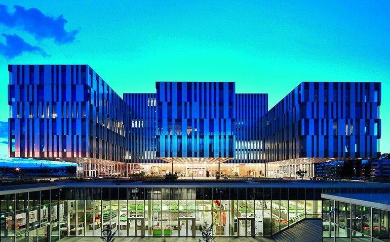 Fassadenprofile müssen nicht immer nur rechteckig sein. Bild: Sapa Building Wicona