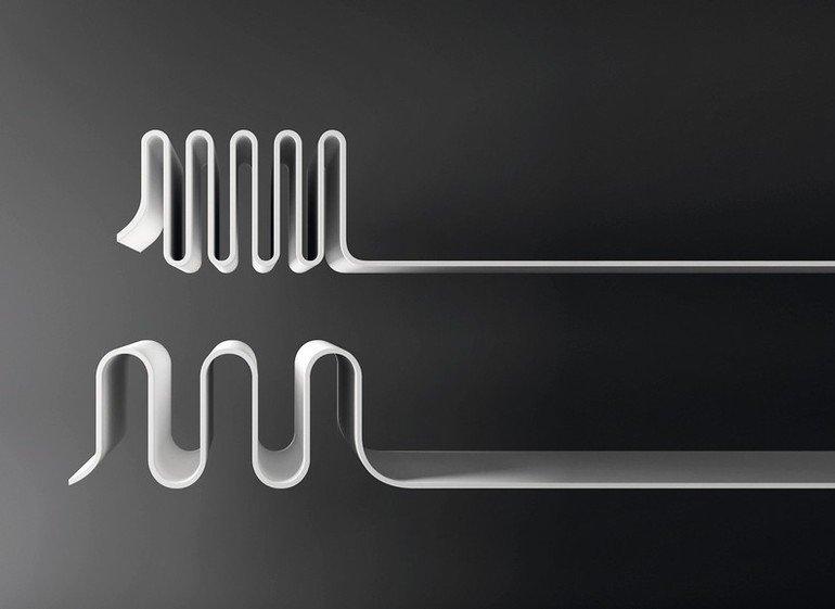 Materialproben von Hi-Macs zeigen die hohe Formbarkeit des Materials, bei gleichzeitiger Stabilität. Bild: HI-Macs