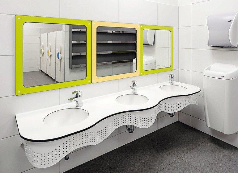 Waschbecken in verspieltem Design. Bild: Kemmlit