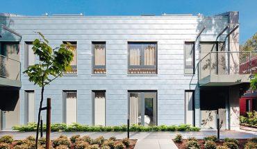Zink-Rauten für die Fassadengestaltung