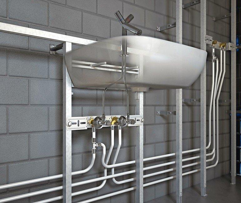 Sichere Trinkwasser- und Heizungsinstallation. Bild: Roth