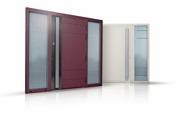"""Die Haustür-Serie """"Creo"""" von Wisniowski ist komplett aus Aluminium, einbruchhemmend bis RC3, hoch dämmend und verwindungssteif bis Klimaklasse 3. Bild: Wisniowski"""