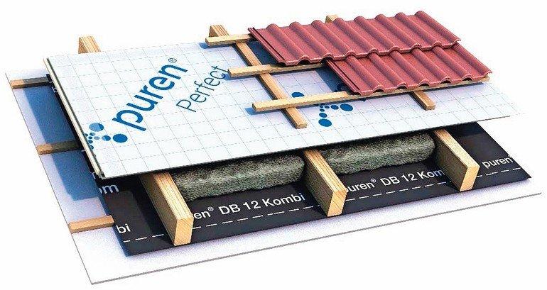 Aufsparrendämmsystem: UV-beständig, diffusionsoffen, rutsch- und hagelfest. Bild: puren