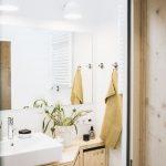 Das Bad verfügt über Dusche, Toilette und Waschbecken. Ein Oberlicht sorgt sogar für Tageslicht. Bild: Jules Villbrandt