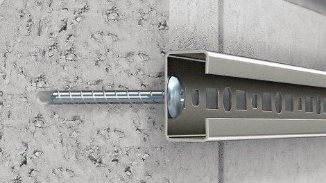 Schraubanker für Befestigung in KS, Leichtbeton und Mauerziegel