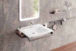 Waschtisch-Konzept für das barriererfreie Bad.