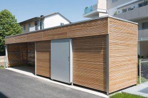 Einhausungen bilden durch ihre Wandfüllungen Designakzente: Die Käuferle GmbH & Co. KG bietet mit Variobox individuelle Möglichkeiten. Bild: EMA GmbH/Käuferle GmbH & Co. KG