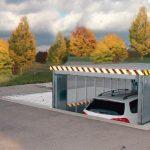 Der Parkvorgang läuft einfach, sicher und schnell ab: Über ein Bedienelement kann der Benutzer die MultiBase-Unterflurbühnen anheben und absenken. Bild: Klaus Multiparking