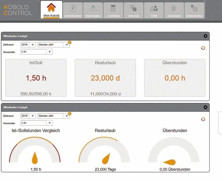 Überstundenabbau aktiv steuern mit Controllingsoftware. Bild: Kobold Management Systeme GmbH