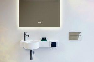 Saphirkeramik: Schneidbarer Waschtisch für anspruchsvolle Grundrisse