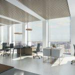 hell erleuchteter Büroraum mit Sonnenblenden. Bild: Schüco International KG