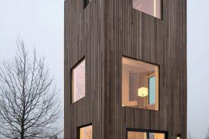 """Mikrowohnung als Option für bezahlbaren innerstädtischen Wohnraum: """"Slim fit"""" auf drei Geschossen von Architektirn Ana Rocha in Almere. Bild: Christiane Wirth"""