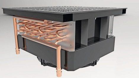 Wassergekühlte Doppelbodenplatte