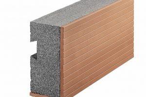 Ziegel-Systemzubehör: Ziegelblenden eignen sich zur Ausbildung des oberen Fensteranschlags ebenso wie zur Dämmung von Stahlbetonstützen. Bild: Wienerberger GmbH